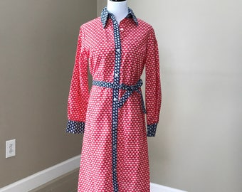 Vintage ILGWU Daisy Shirt Dress late 60's to early 70's