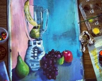 Still Life Acrylic Painting