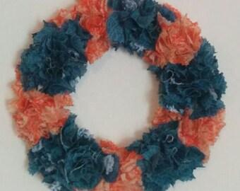 21 cm diameter styrofoam wreath and fabric Garland