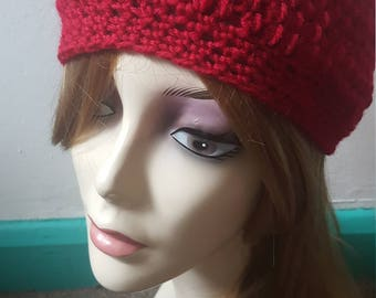 Women's hand knit beanie hat, chunky slouch hat › cozy winter accessory