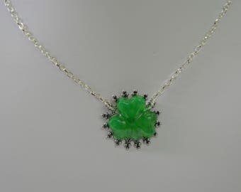 Luck of the Irish Clover Necklace with Antique Silver
