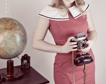 50s dress after original cut