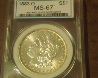 MS67 1883 O Morgan Silver Dollar