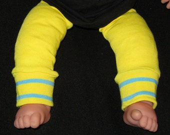Leg warmer, Infant, Newborn- white with red and yellow stripe - infant leg warmer, newborn leg warmer, baby girl leg warmer, baby leg warmer