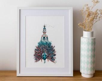 Peacock Lu - Poster - 30 x 40 cm