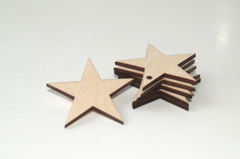 Wood stars shape, Stars ornament, Star, Wedding favors, Stars shape ...