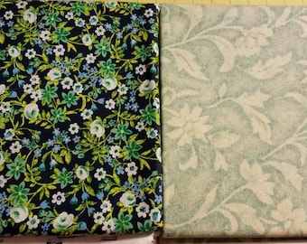 100 hundred percent cotton fabric/flowers/vines/quilting/crafts/sewing/apparel/by the yard