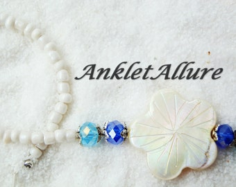 Anklet BEACH Ankle Bracelet SHELL Flower Ankle Bracelets for Women GUARANTEE Beach Proof