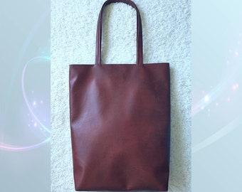 Eco leather bag, handbag, eco leather shoulder bag, brown bag Kaia de Lux