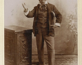 Theatrical Cabinet Card of Actor in Costume