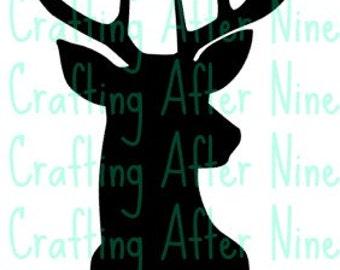Deer Head SVG, Buck Silhouette Svg Cutting Files, Deer SVG, Hunting Svg, Svg Files Silhouette Cameo, Cricut, Southern SVG, Hunting Season