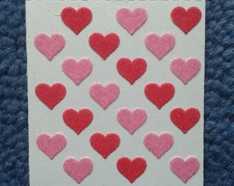 Sandylion Stickers Fuzzy Mini Valentine Hearts  (1 mod)
