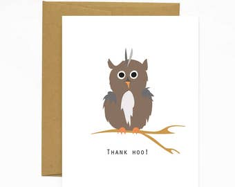 Thank Hoo Greeting Card