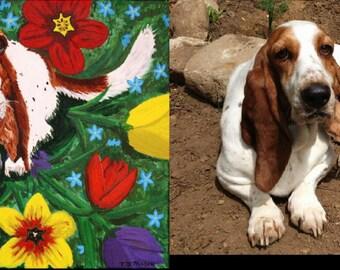 Unique pet portrait, pet memorial art, gift pet portrait, gift for pet lovers, custom gifts, memorial pet art, original pet art,Item #PP1620