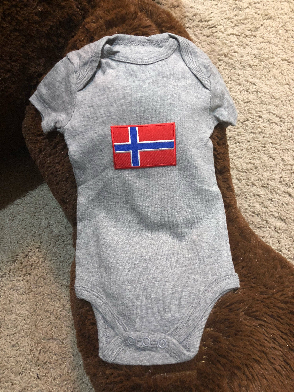 Norwegian flag or Swedish flag baby onesie
