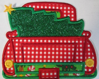 Iron On Applique -Christmas Truck  CT889000  Ships in 5-7 Business Days