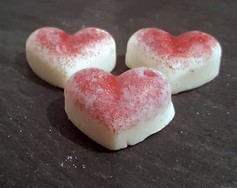 Handmade 6 Decorative Strawberry Highly Scented Soy Wax Melts
