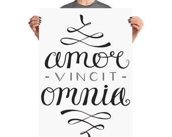 Love Conquers All - Amor Vincit Omnia - Latin Language Poster - 24x36