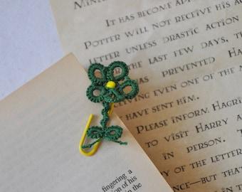 Paperclip bookmark, Paperclip lace bookmark, Paperclip planner bookmark, Tatting lace, Lace bookmark, Paperclip, Bookmark, Tatted bookmark