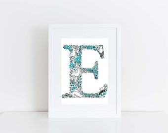 Typography Print - Children's Wall Art - Nursery Art - Nursery Print - Baby Shower Gift - Alphabet Illustration - Children's Illustration
