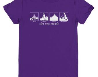 Disney Climb Every Mountain Shirts Gift Disneyland Shirt Child Youth