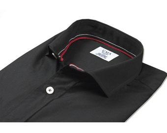 Camisa negra de algodón ecológico.