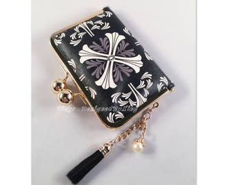 Kaleidoscope Print Faux Leather Credit Card Holder / Mini Wallet S010