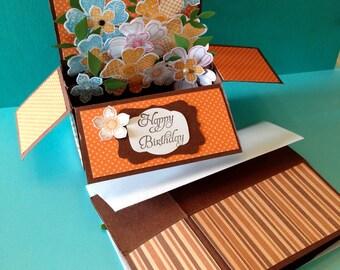 Custom 3D Happy birthday box card- free shipping!