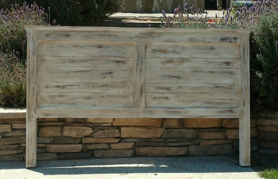 Rustic Headboard Farmhouse Painted And Heavy Distressed Queen