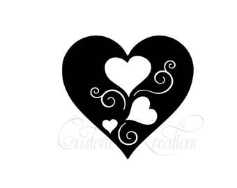 Heart in Hearts  ;  SVG FILE ONLY