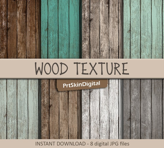 Color Hut Textures: Wood Digital Paper Wood Texture With 8 Color Ways