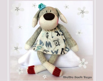 MADE TO ORDER - Handmade Puppy Girl Sock Plush Toy