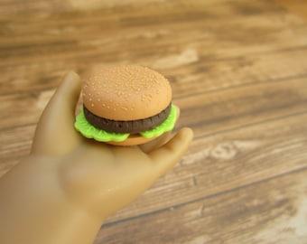 Hamburger for American Girl Dolls / Eraser Hamburger for American Girl Dolls / Kawaii / for Our Generation Dolls / for American Girl Dolls
