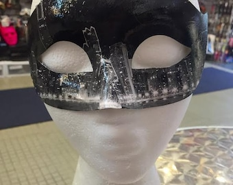 Chicago Night Skyline Masquerade Mask