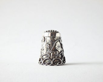 Vintage Thimble Silver Sewing Collectible Taxco Mexico Silver Thimbles Pins and Needles Sewing Notions Vintage FREE SHIPPING