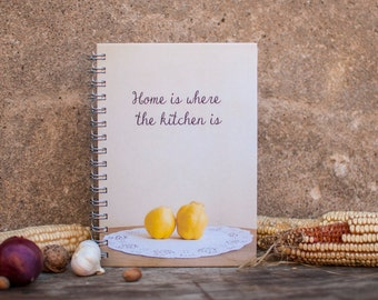 Recipe book, Cook book, Recipes book, Notebook, Recipe notebook, Blank book, Christmas gift, Handmade, Paper supplies,Kitchen, Gift for her