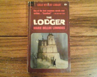The Lodger 1965 Vintage Horror Marie Belloc Lowndes Dell 4903 Great Mystery Library Paperback Jack the Ripper