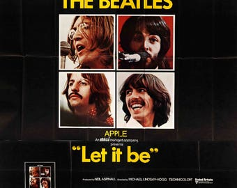 "Original Movie Poster - Let It Be (1970) Original Six-Sheet Movie Poster - 81"" x 81"""