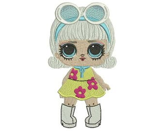 LOL Surprise Go-Go Girl  Machine Embroidery Design