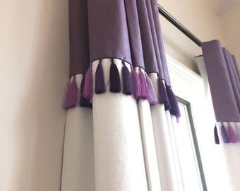 Custom Banded Drapery Panels with Trim