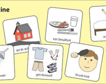 Morning Routine Picture Cards