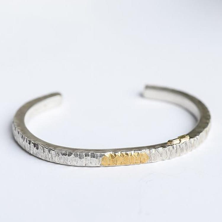 cuff silver hammered thin sterling from productdetails bangles asp david handcrafted s smallcombe bracelet