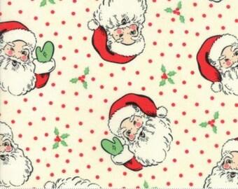 Swell Santa Print in White by Urban Chiks for Moda Fabrics - 1/2 Yard