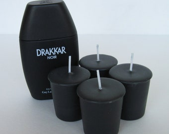 DRAKKAR NOIR type (4 votives or 4-oz soy jar candle)