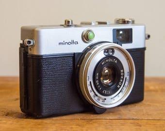 Minolta Hi-Matic C, Minolta Hi-Matic, Minolta, 35mm Camera, Film Camera, Vintage Camera, Vintage, Viewfinder, 35mm, Camera, Photography,
