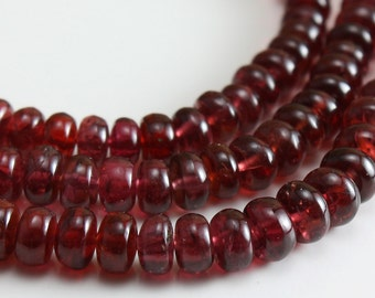 Ruby Red Spinel Beads  Graduated Rondelle 2.7mm - 5mm  - 12 beads