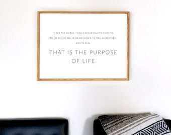 LIFE Motto / Walter Mitty Poster Screen Print