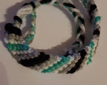Agender Flag Thread Bracelet
