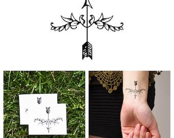 Fleur-de-Arrow - Temporary Tattoo (Set of 2)