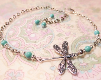 Dragonfly Anklet - 6 colors